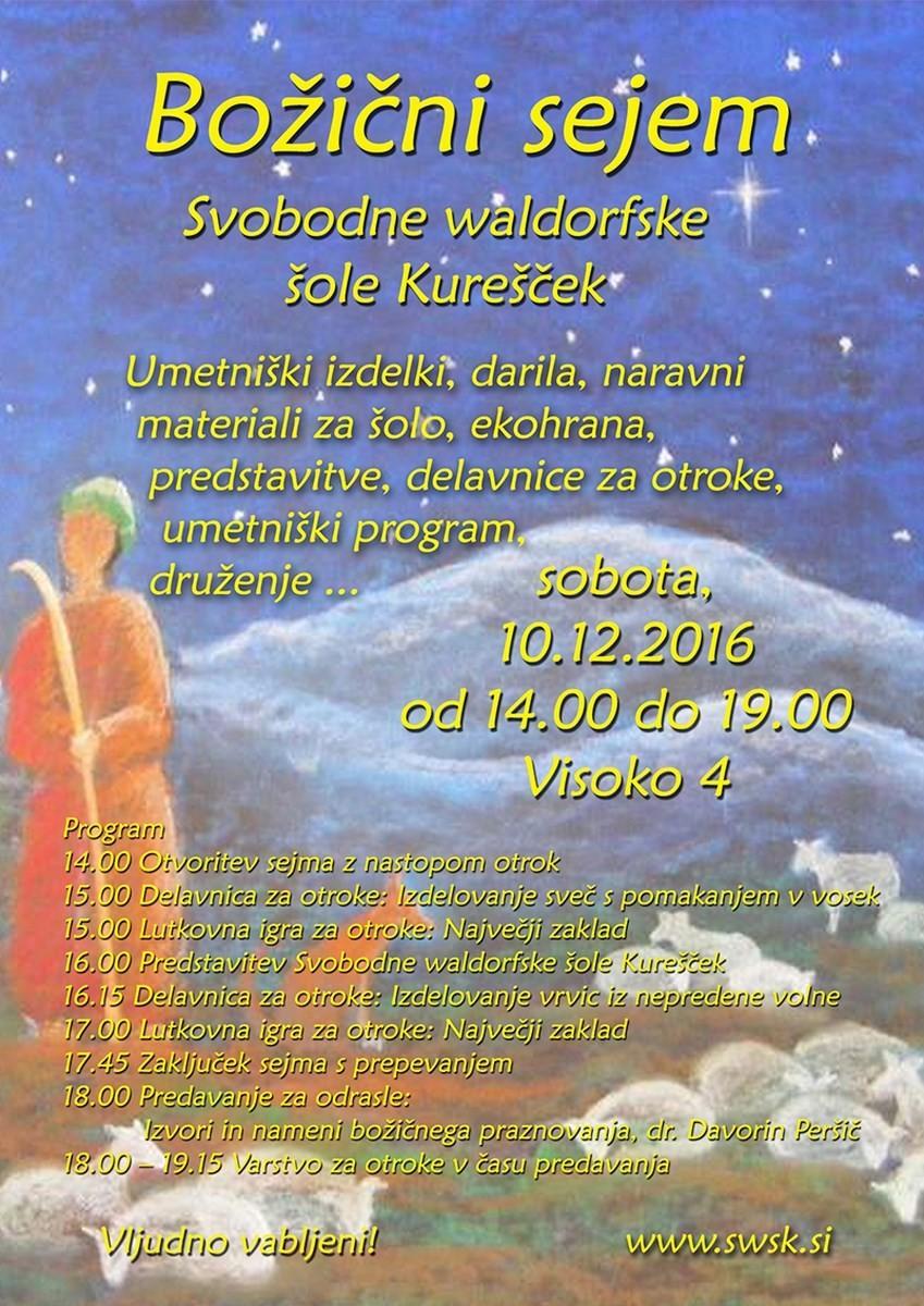 Božični sejem Svobodne waldorfske šole Kurešček