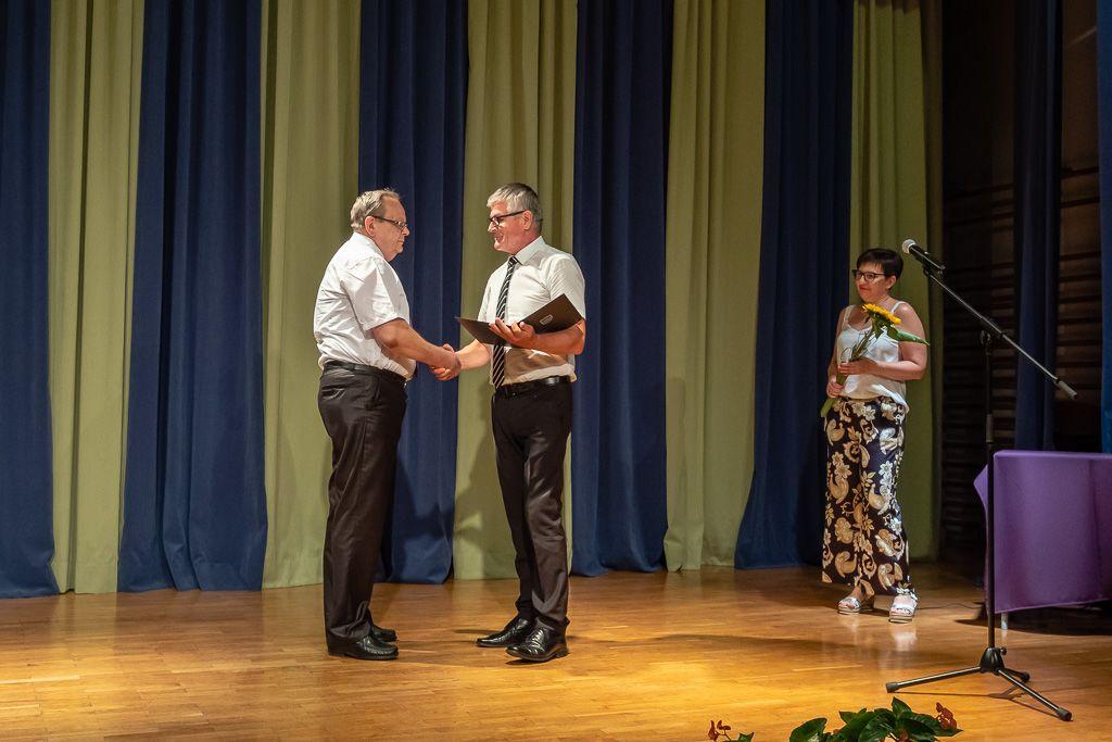 Ivan Škulj, prejemnik priznanja župana Občine Borovnica