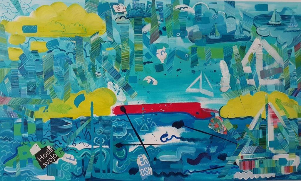 Otvoritev razstave abstraktnih slik IZGUBLJENA V BARVAH