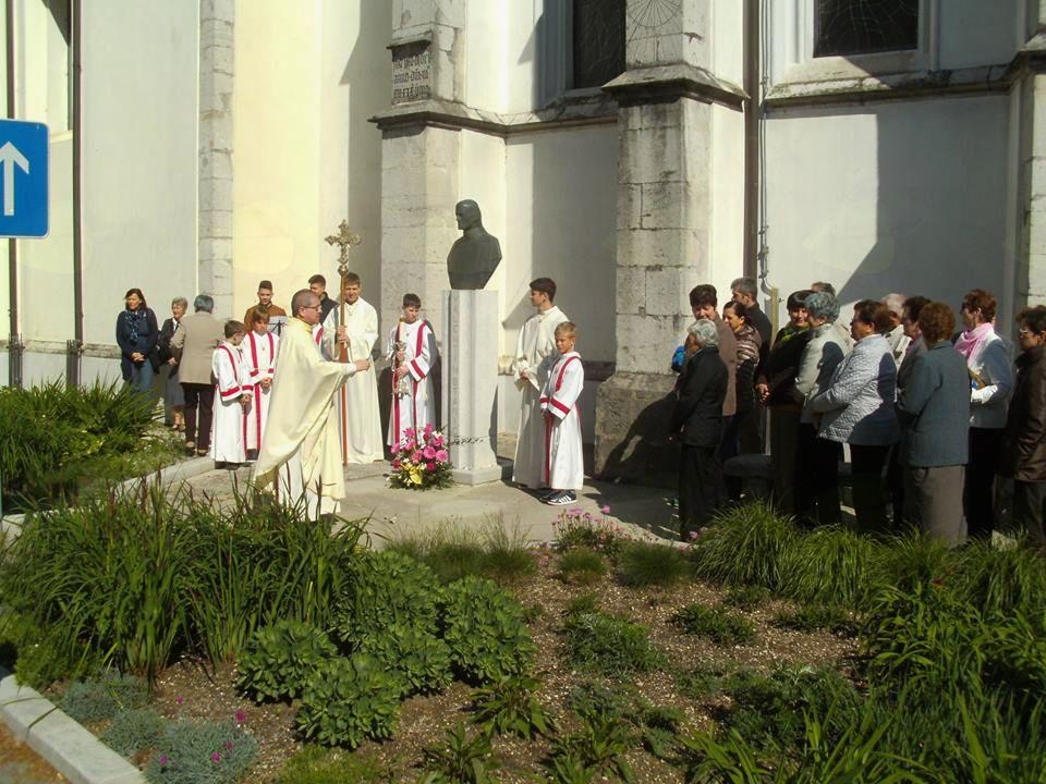 Blagoslov ob 170-letnici smrti Valentina Staniča. Foto: Marjan Nanut