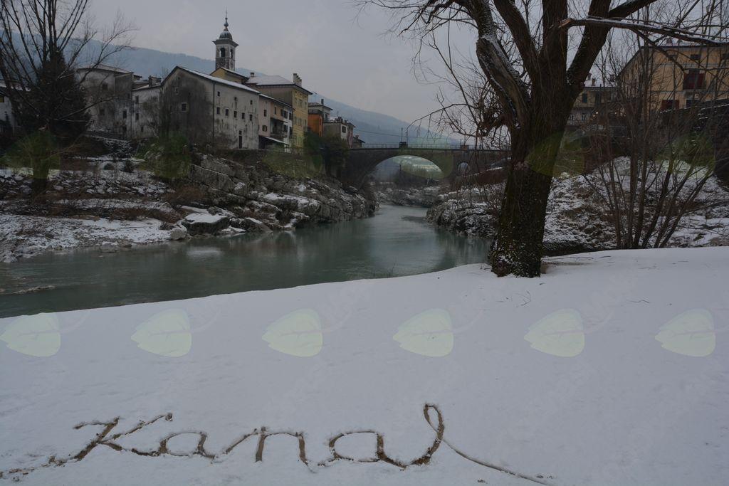 Kanal, zavit v snežno odejo, foto: Maja Križnič