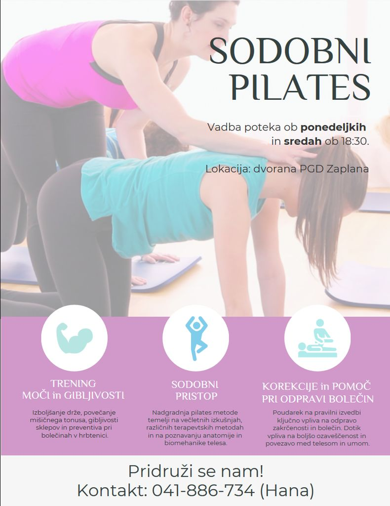 Pilates v Zaplani