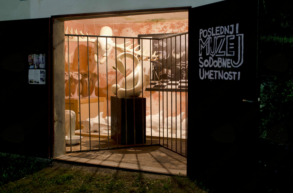 Poslednji muzej sodobne umetnosti v vasi Logje. Foto: arhiv Poslednji muzej sodobne umetnosti