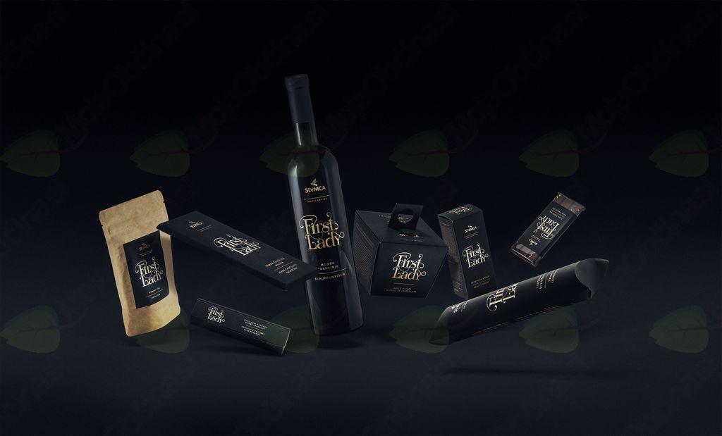 Ponudba lokalnih izdelkov kolekcij First Lady in Visit Sevnica, izbranih vin in suhomesnatih izdelkov