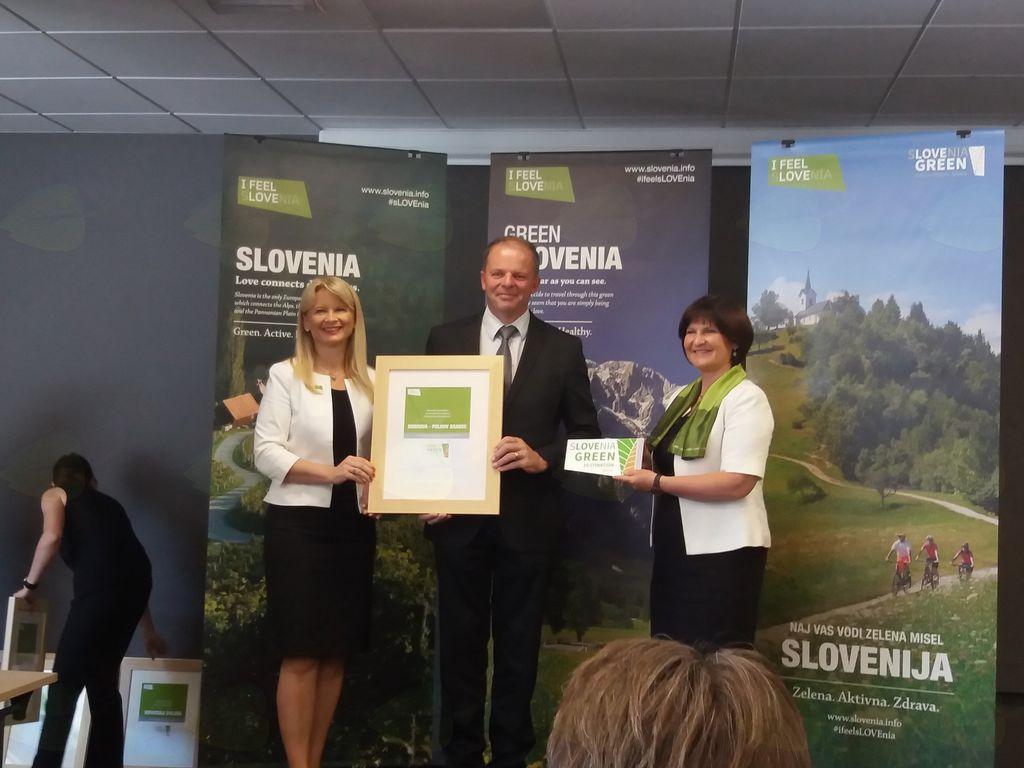 Občina prejela naziv Slovenia Green