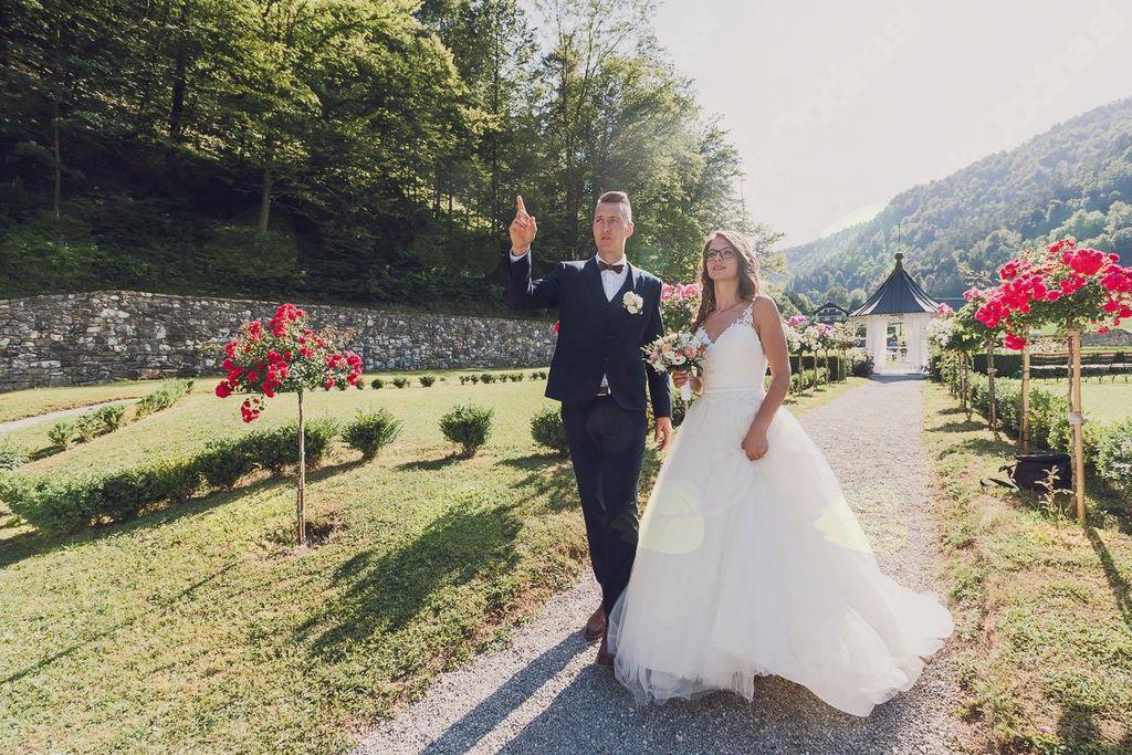 Grajski park in graščina vse bolj priljubljena za poroke
