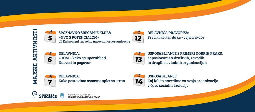 Majski dogodki za društva in druge nevladne organizacije