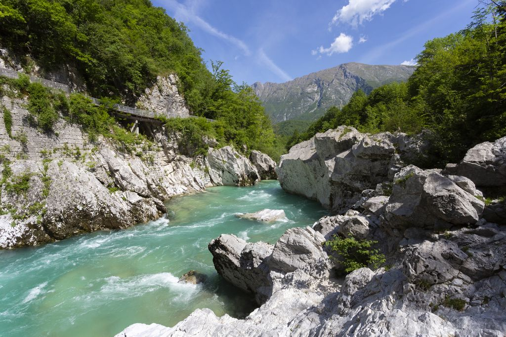 Reka Soča. Foto: Jure Batagelj, arhiv Turizem Dolina Soče