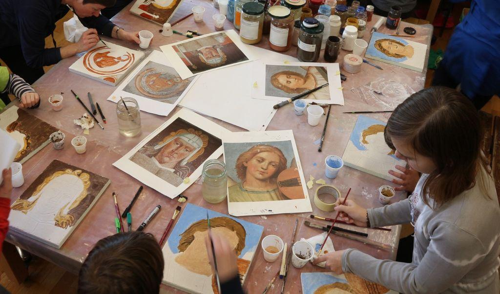 Foto: Vid Klančar, delavnica izdelave freske
