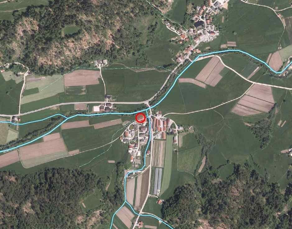 Obravnavano območje v Dolenji vasi