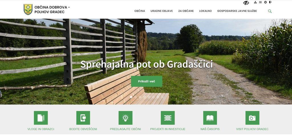 Občina  ima novo spletno stran