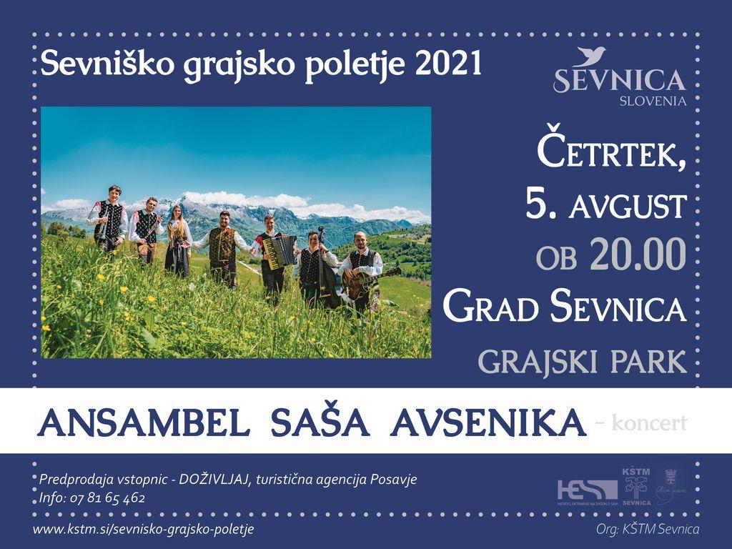 Sevniško grajsko poletje 2021, koncert, Ansambel Saša Avsenika