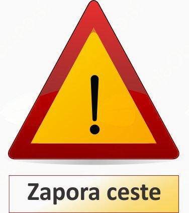 Zapora ceste Podčelo - Podlipa