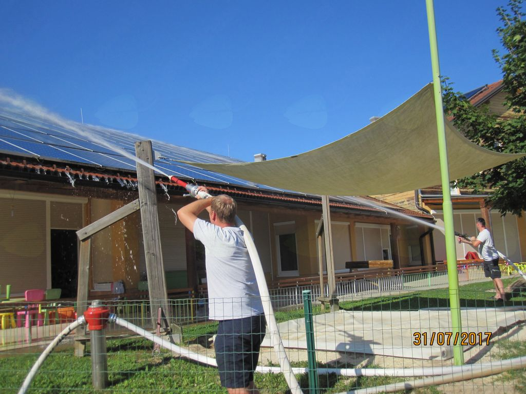 Sanacija strehe na vrtcu