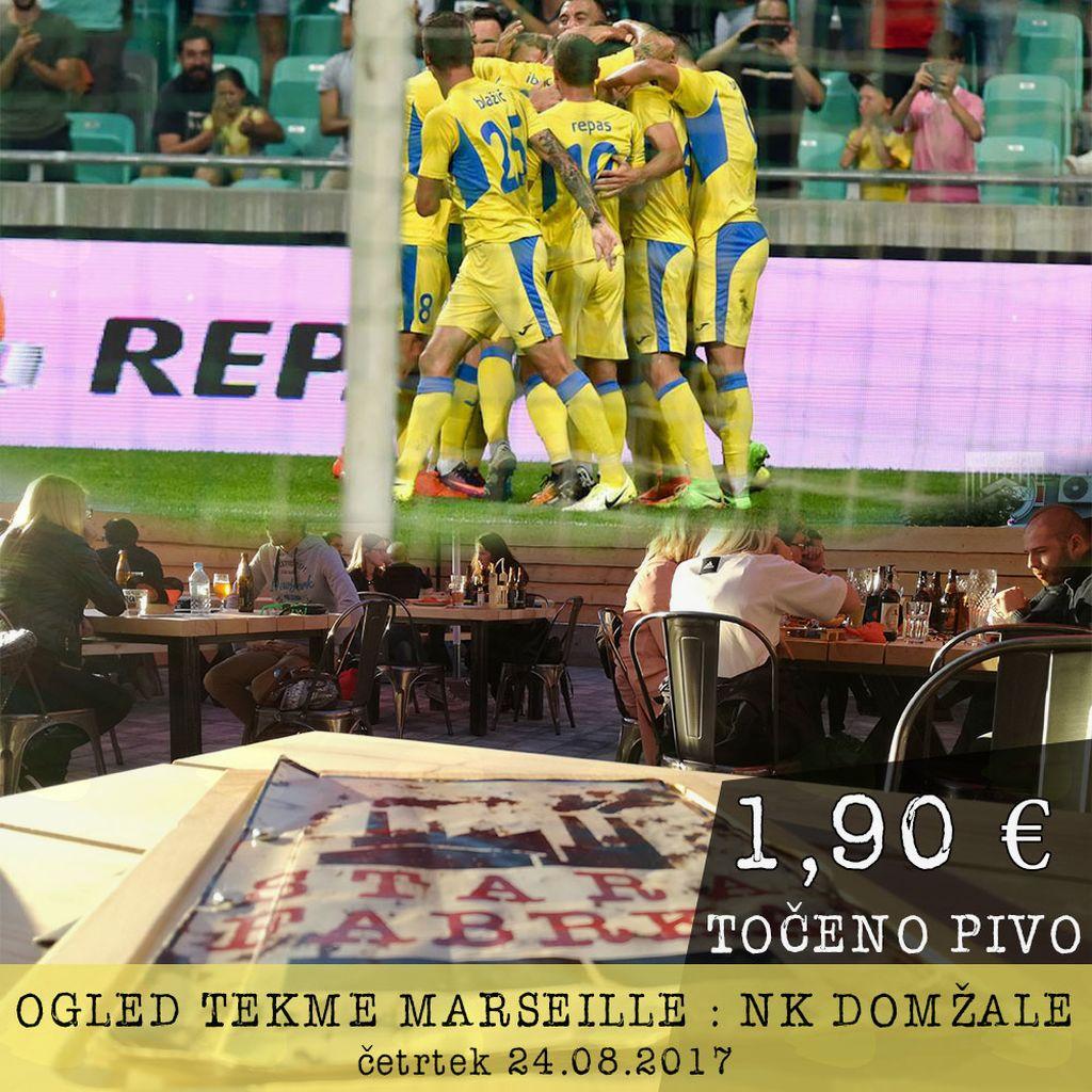 Ogled tekme Marseille : NK Domžale v Stari Fabrki