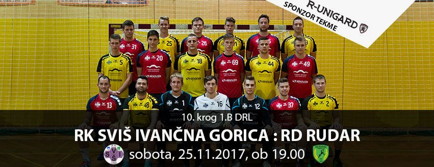 Rokometna tekma: RK SVIŠ Ivančna Gorica - RD Rudar Trbovlje