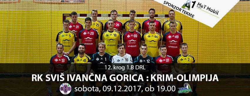 Zadnja domača tekma: RK SVIŠ Ivančna Gorica - RK Krim-Olimpija