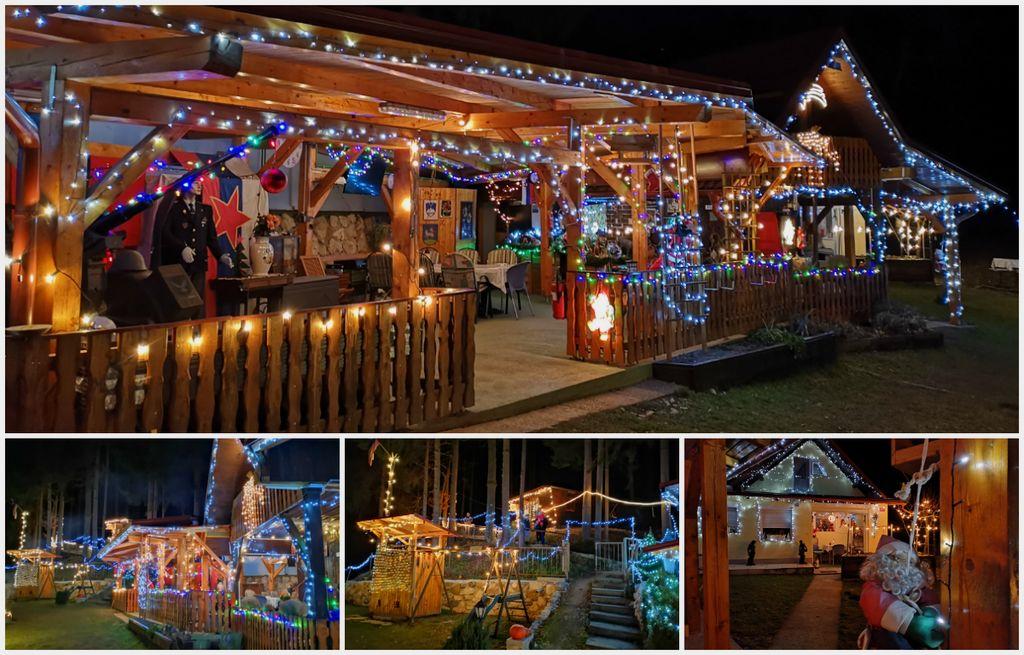 FOTO: Toni Štrigl iz Selovca z več kot 25.000 lučkami okrasil svoje posestvo