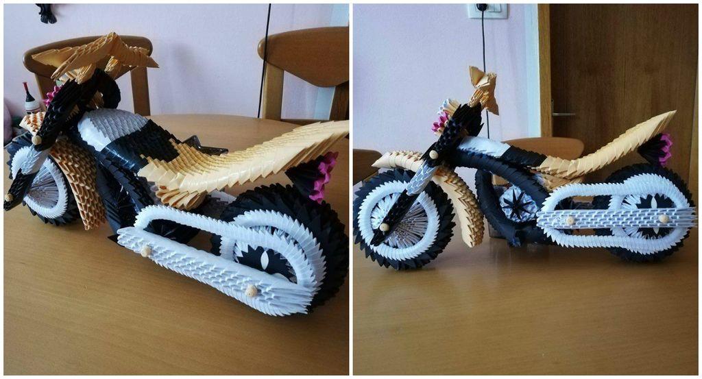 Milan iz Mežice iz papirja (origami) sestavil celo motor