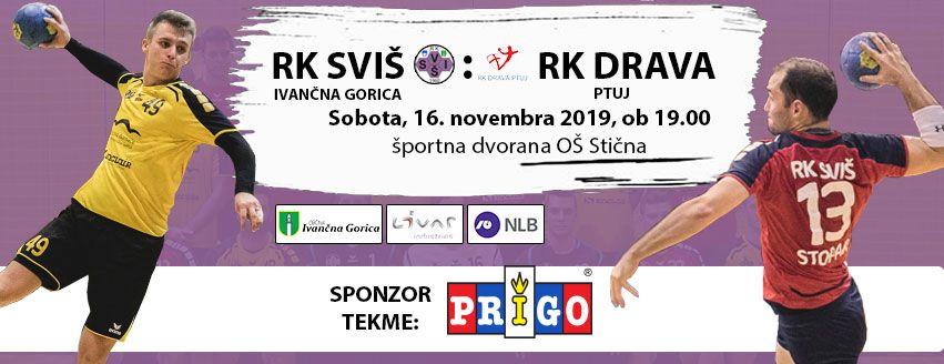 Rokometna tekma: RK SVIŠ Ivančna Gorica - RK Drava Ptuj