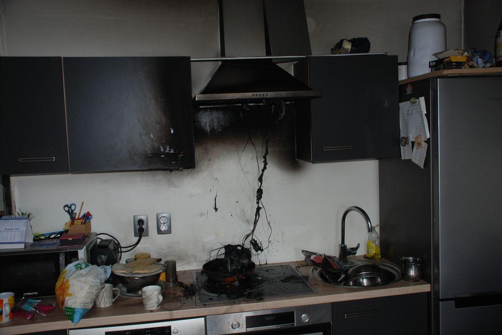 Požar stanovanja v Šempetru
