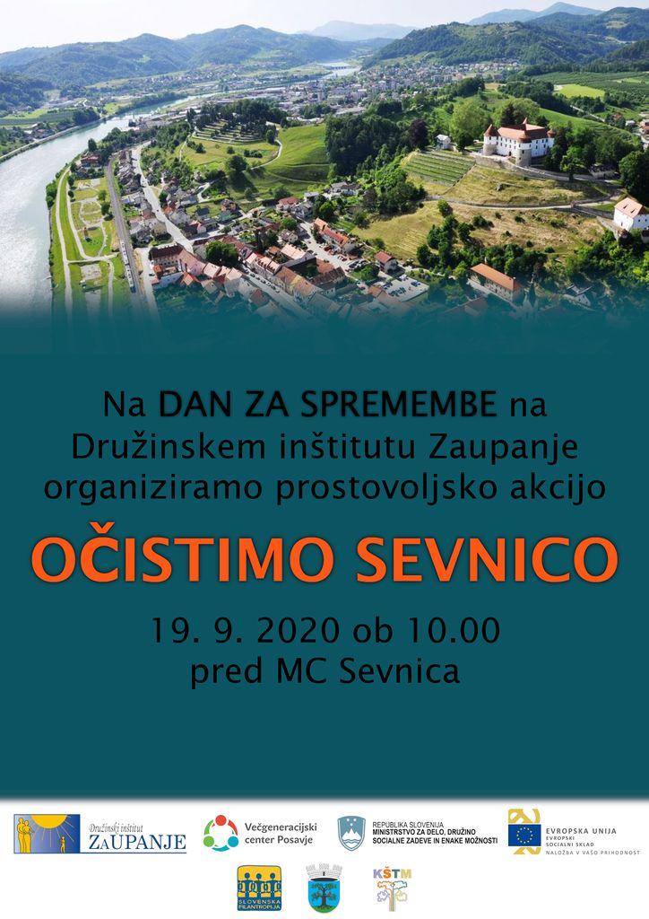 """Prostovoljska akcija """"Očistimo Sevnico!"""""""