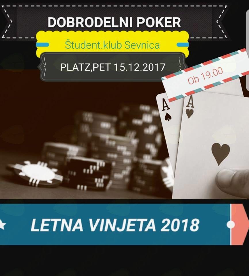 Dobrodelni poker turnir v Sevnici