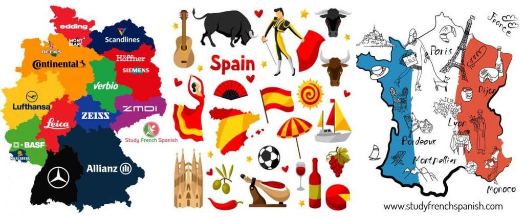 Začetni tečaji nemščine, francoščine in španščine