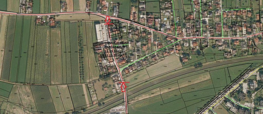 Delna zapora občinske ceste LC490231 Dolenja vas - dvorec