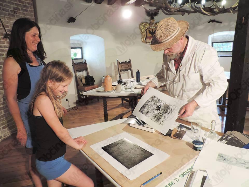 Izobraževalna grafična delavnica na gradu Bogenšperk
