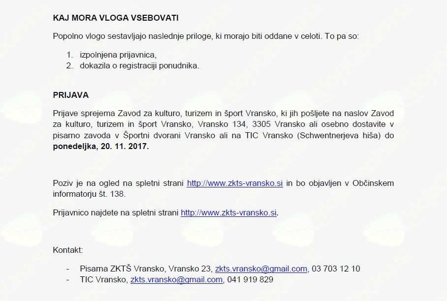 ADVENTNA TRŽNICA - javni poziv