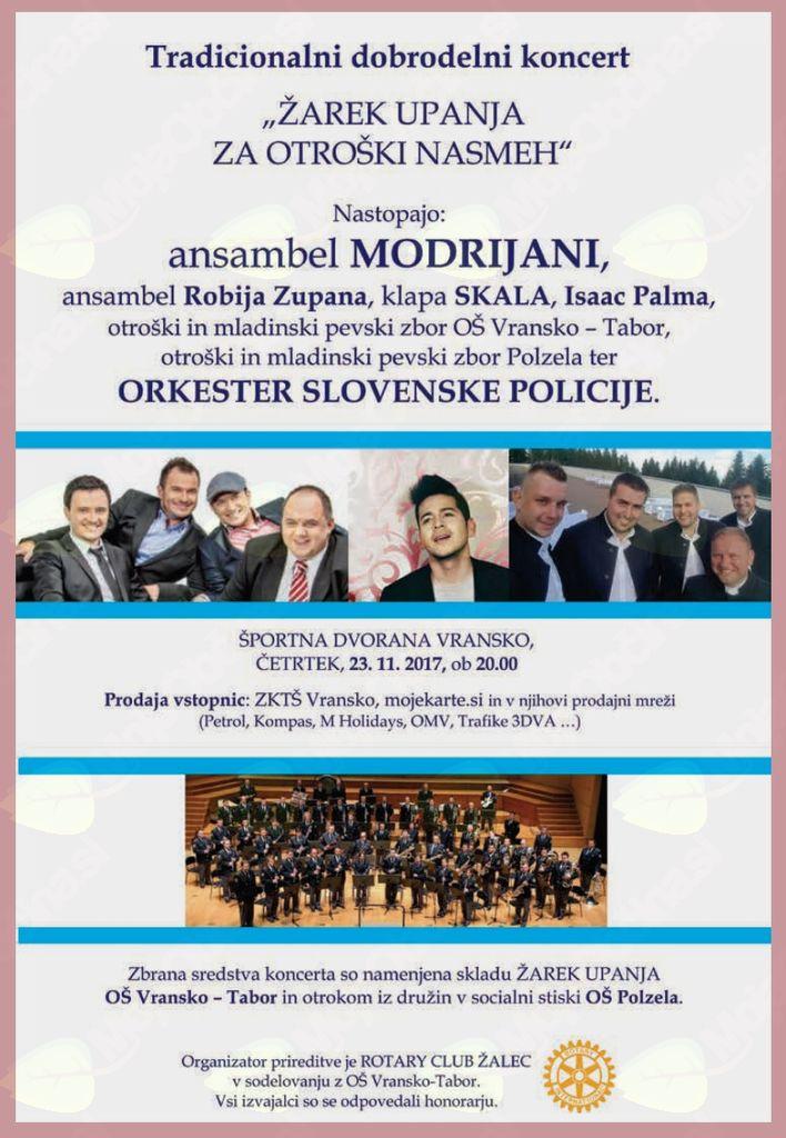 ŽAREK UPANJA ZA OTROŠKI NASMEH - Dobrodelni koncert