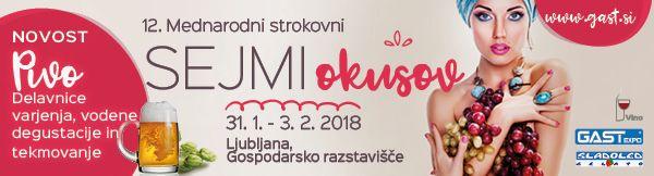 12. Mednarodni strokovni sejmi Okusov GASTexpo (31. 1.-3. 2. 2018)