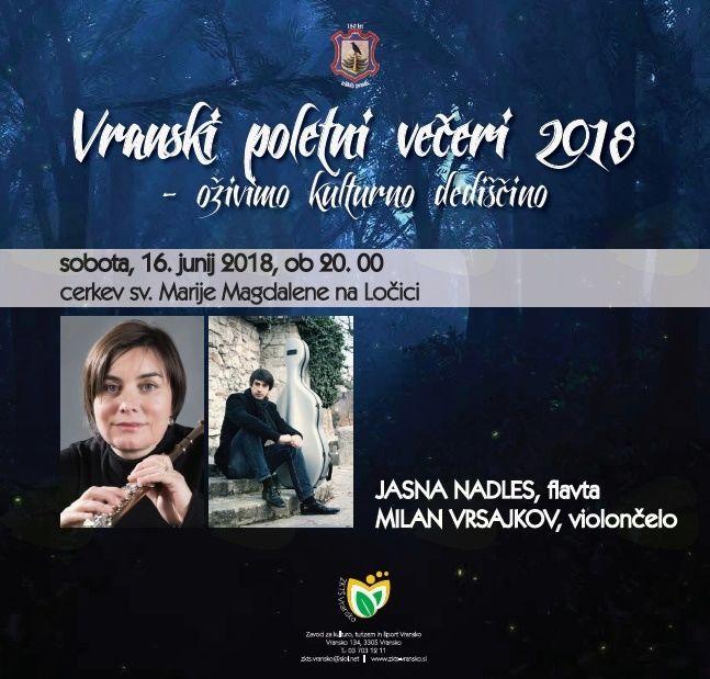 VRANSKI POLETNI VEČERI 2018 - OŽIVIMO KULTURNO DEDIŠČINO