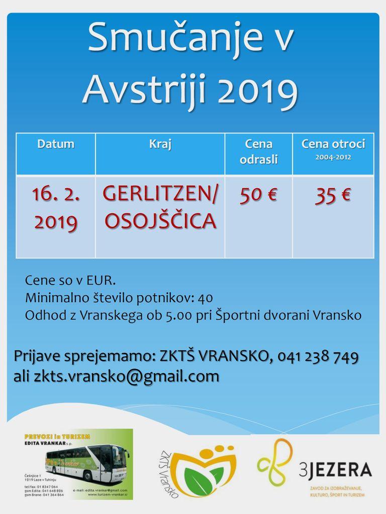 ENODNEVNO SMUČANJE NA OSOJŠČICI (GERLITZEN), 16. 2. 2019