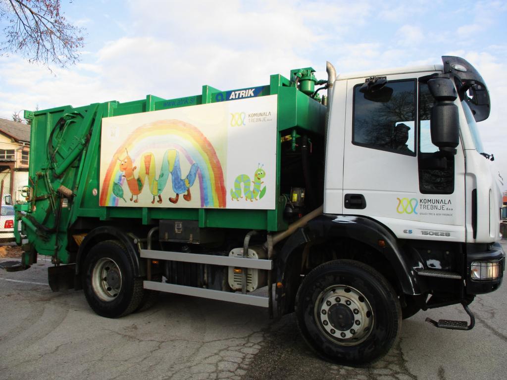 Odvoz mešanih odpadkov na tri tedne