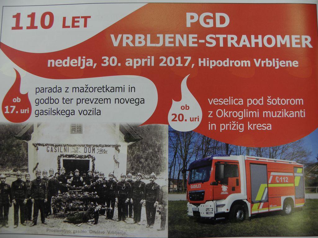 Parada in prevzem novega gasilskega vozila z veselico in kresom