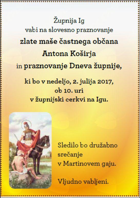 Zlata maša gospoda Antona Koširja
