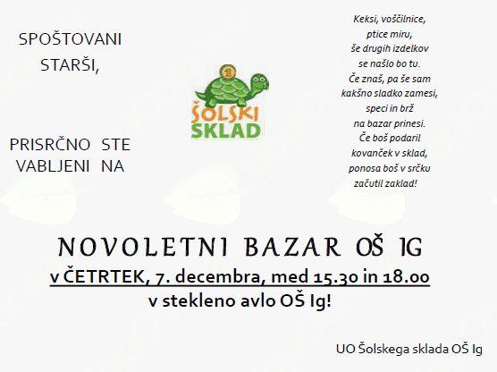 Novoletni bazar OŠ Ig