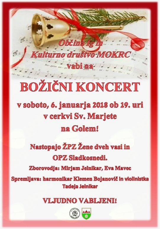 Božični koncert v cerkvi sv. Marjete na Golem