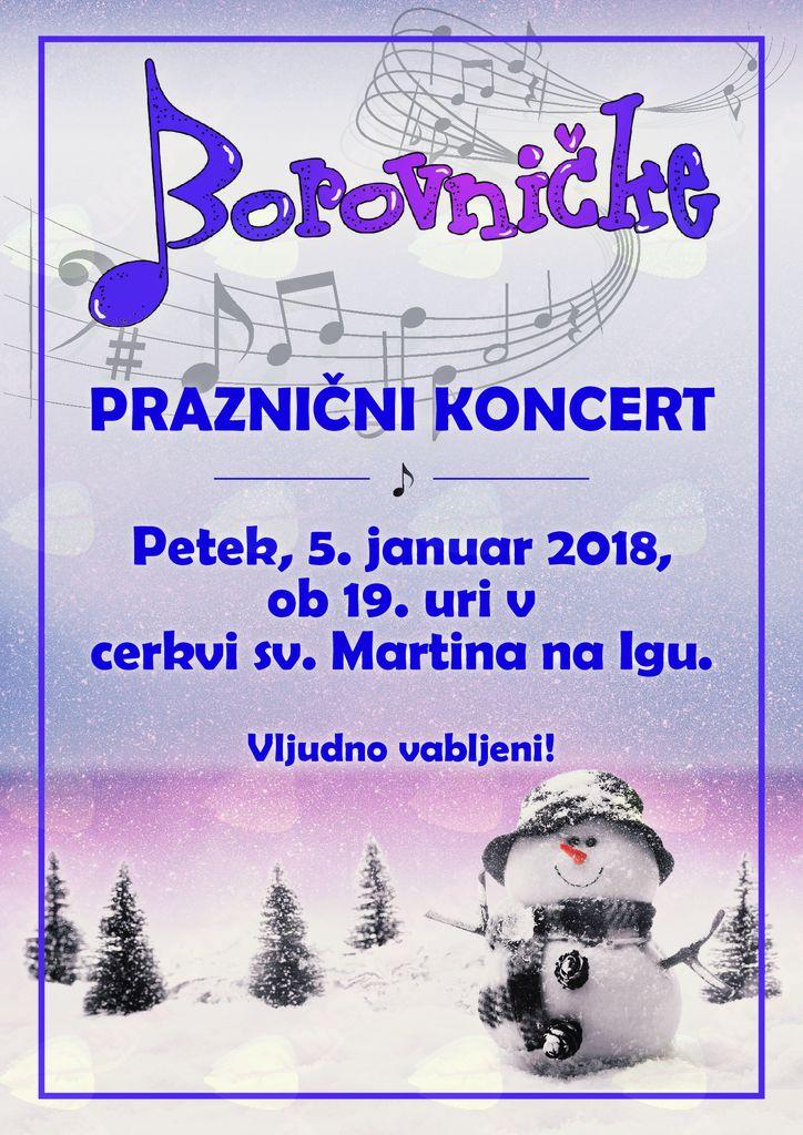 Praznični koncert Borovničk