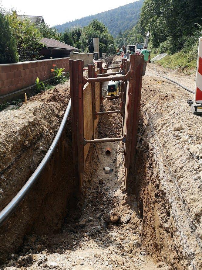 Gradnja kanalizacije ter obnova vodovoda v Podkraju - podaljšanje popolne zapore