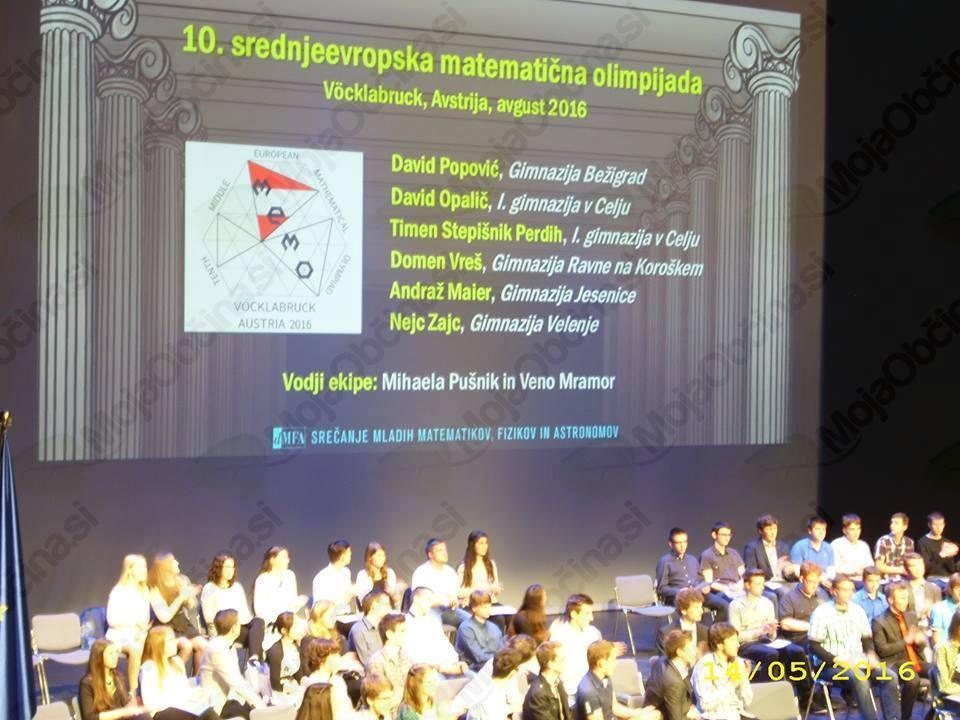 Dijak Ravenske Gimnazije Domen Vreš zopet olimpijec