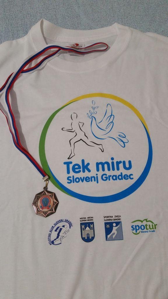 Medalja PD Slovenj Gradec in majica SPOTURJA