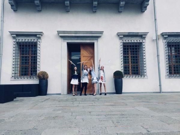 Kvartet flavt Roš'ce (Neli Markl, Elizabeta Požun, Anika Simončič in Ines Bizjak) na mednarodnem tekmovanju Svirél v Vili Vipolže v Goriških brdih