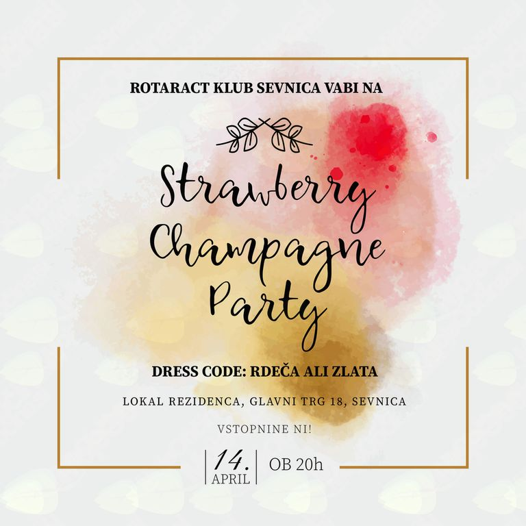 Dobrodelni:  Strawberry Champagne Party