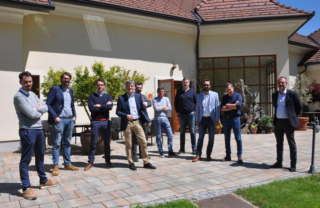 Člani strokovne komisije 11. ocenjevanja modrih frankinj v Sevnici
