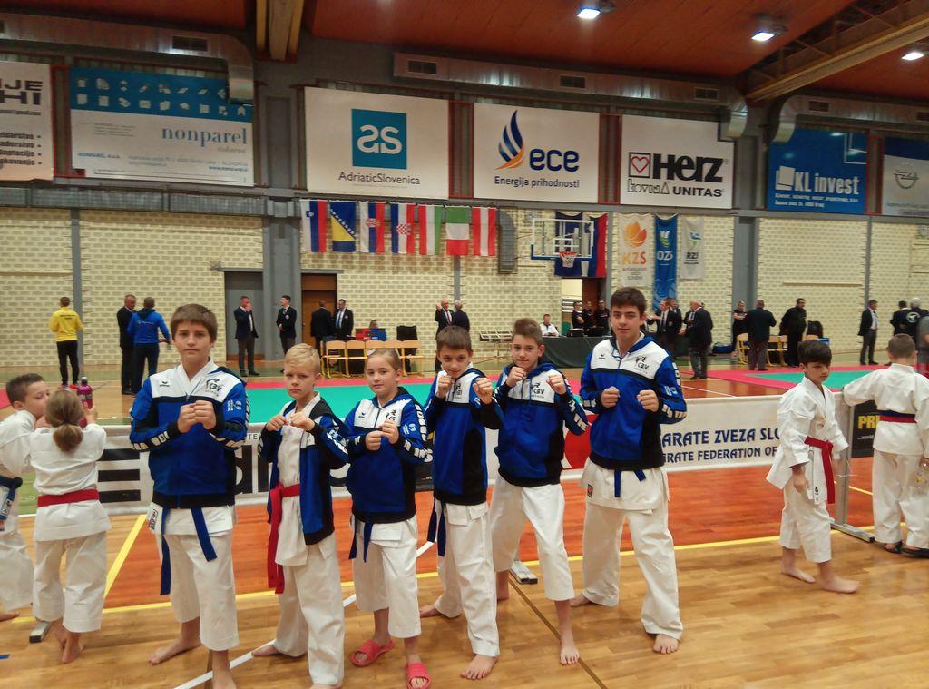 Mlada ekipa karateistov KBV Sevnica