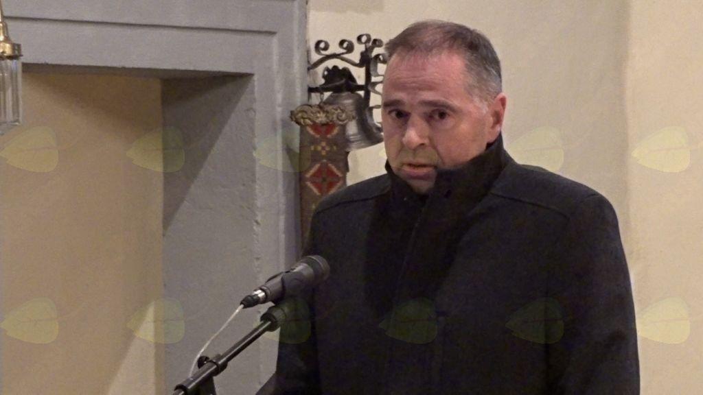 Zbrane je nagovoril predsednik KS Tržišče Janez Virant (foto: Stane Markovič).