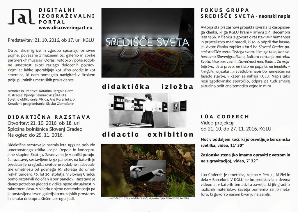 Dogodki ob zaključku projekta Muzej v gibanju v KGLU in Splošni bolnišnici SG